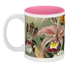 """Кружка цветная внутри """"Любимой маме (<b>Орхидеи</b> Эрнста ..."""