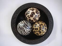 Leopard Decorative Balls Animal Print Leopard Zebra Decorative Art Balls Set by ArtBouquet 3