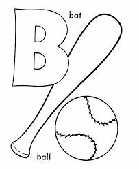 Baseball Bat Coloring Pages New Abc Pre K Coloring Activity Sheet
