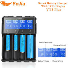 Yojia Akıllı USB Pil şarj Cihazı VT2 VT4 ARTı Için Li-Ion Ni-Mh Ni-Cd AAA  1.2 V 3.7 V 14500/ 18350/18650/22650 şarj Edilebilir Pil şarj -  Www10.limitedhyper.me