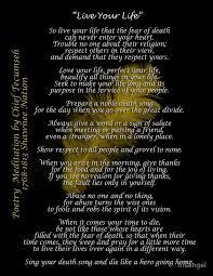 Tecumseh Quotes Cool Tecumseh Poems