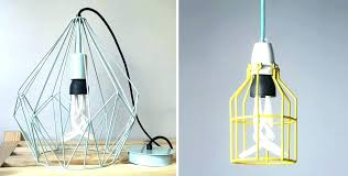 fascinating cage lamp shade lighting lovely industrial cage work light chandelier with collection in cage pendant light vintage industrial metal cage