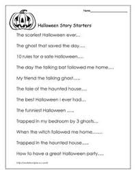 halloween story starters worksheets school and english language halloween story writers >>> use for drama circle stories