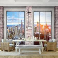Fototapete Fenster Nach New York Vlies Wand Tapete Wohnzimmer