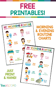 Kids Daily Routine Chart Daily Routine Chart For Kids