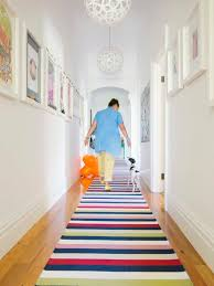 runner rugs with contemporary hall bright colors