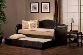 hilale bon daybed with pull out trundle brown vinyl