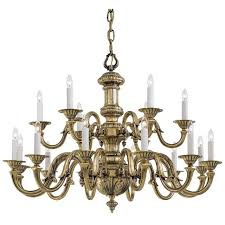 metropolitan n700218 antique classic brass 18 light 2 tier candle style