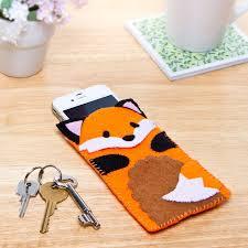 Felt Design Ideas Fox Phone Case Felt Crafts Kids Fox Crafts Felt Crafts Diy