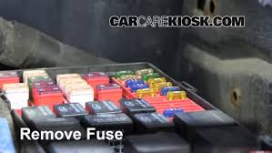 interior fuse box location 2014 2016 chevrolet silverado 1500 take out the fuse in question and assess if blown