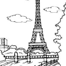 Small Picture Eiffel Tower Outline Coloring Page Eiffel Tower Outline Coloring