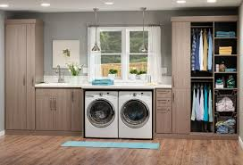 Traditional Theme Laundry Room Design with Delightful Utility Room Cabinet,  Solid Particle Board Wood Cabinet