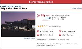 Jiffy Lube Live Bristow Va 3d Seating Chart Nissan Pavilion Is Now Jiffy Lube Live Dcist