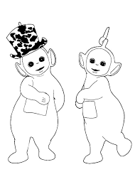 Small Picture Laa Laa Love Dipsy New Hat in the Teletubbies Coloring Page