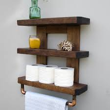 rustic bathroom shelving