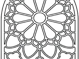 Stained Glass Coloring Page Stained Glass Coloring Page Stained
