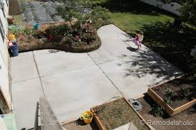 gorgeous pouring a concrete patio with how to install diy how to build a concrete patio i83