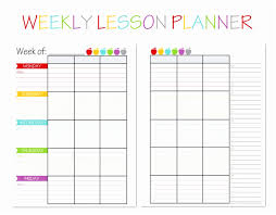 Weekly Lesson Plan Template Pdf Templates Forlementary Teachers