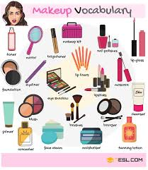 makeup and cosmetics voary in english