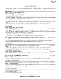 Proper Format Of Resume
