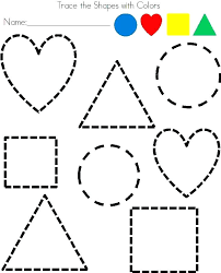 Printable worksheets tracing shapes | Download them and try to solve