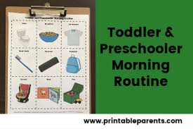Another helpful side effect of scheduling is that less problem behaviors occur when a schedule is consistently. A Morning Routine For Toddlers And Preschoolers That Works Free Printable Printable Parents
