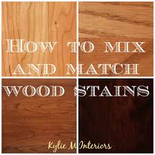 Minwax Stain Mixing Chart How To Mix Match And Coordinate Wood Stains Undertones