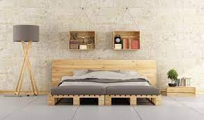 decorate a bedroom with recycled materials