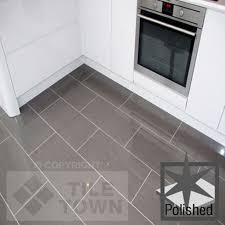 Polished Kitchen Floor Tiles Quartz Stone Midnight Black Quartz Floor Tiles From Tile Mountain