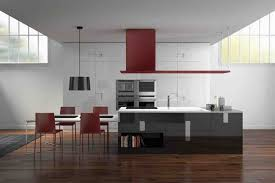 italian kitchen furniture. Red And White Dining Set Of Italian Modern Kitchens Can Be Applied Beside Black Cabinet On Kitchen Furniture N