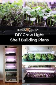 grow light shelf building plans