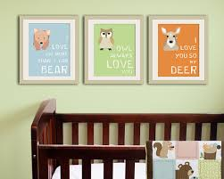 on forest animal nursery wall art with woodland nursery decor forest animal kids wall art
