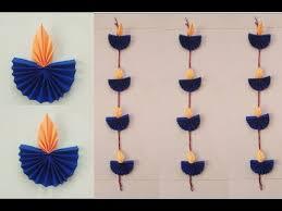 easy paper diya wall hanging for diwali