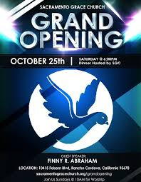 Grand Opening Flyer Classy Sacramento Grace Church Grand Opening In Sacramento Grace Church
