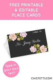 25 best printable place cards ideas on pinterest vintage place Printable Wedding Place Card Template free printable flower place cards from @chicfetti perfect for weddings or parties! printable wedding place cards templates