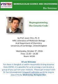 reprogramming the genetic code 3 oct 2018