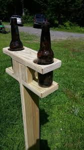 Wooden Yard Games Outdoor Beverage Holder with FREE Shipping Home Painting Home 38