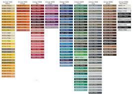 Pantone Ral Color Conversion Chart