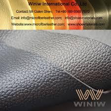 embossed microfiber leather for footwear
