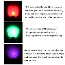 tactical green red uv light 3