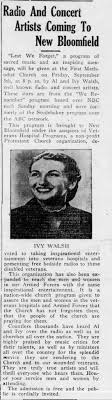 Ivy Walsh The Perry County Times, New Bloomfield, PA 9/4/1952 -  Newspapers.com