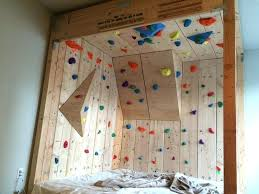 diy kids climbing wall kid rock lovely i made a bed childrens