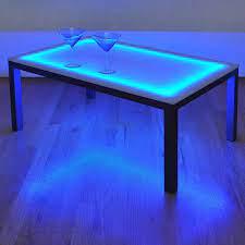 led coffee table led lighted coffee