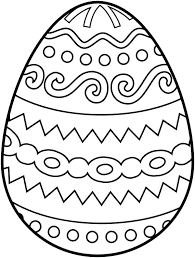 Easter Templates Eggs Template Plain Easter Egg Free Printable Coloring Pages Blank