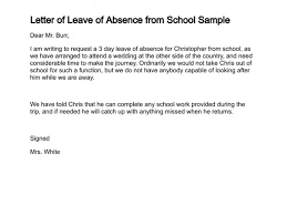 How To Write An Absent Letter Absent Note For School Sample How