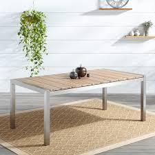 macon rectangular teak outdoor long table whitewash