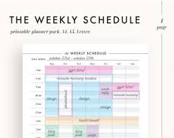 Printable Week Planner Weekly Planner Pages Etsy