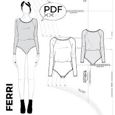 Bodysuit Sewing Pattern New Bodysuits PDF Sewing Patterns By Kommatia Patterns