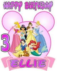 Disney Princess Age Chart Details About Disney Princesses Birthday T Shirt Personalized Any Name Age 2t To Adult