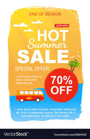 Special Summer Sales Offer For Season End Flyer